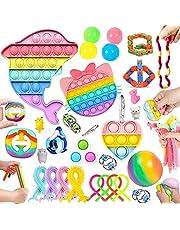 30 Pcs Sensory Relief Toy Set Cheap, Fidget Toys Set For Kids Stress And Anxiety Relief Fidget Toys, Cheap Fidget Toys Fidget Toy Kit, Fidget Set With Bubble Fun Fingertip stress ball, Etc