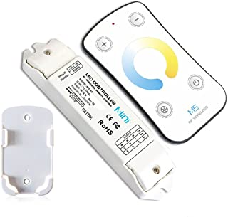 LEDENET M5 LED Controller Dimmer Color Temperature Adjustable Dimming Control Warm - Natural - Cold White LED Strip Lighting (M5 WW-NW-CW CT)