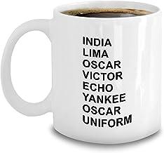 Phonetic Alphabet Mug - Amateur Ham Radio Operator Gifts - Aviation Code - India Lima Oscar Victor Echo Yankee Uniform