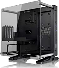 Thermaltake Core P1 Tempered Glass Edition Mini ITX Open Frame Panoramic Viewing Tt LCS Certified Gaming Computer Case CA-1H9-00T1WN-00, Black