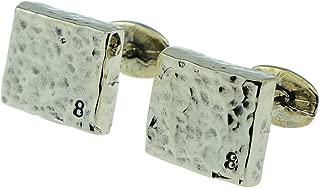 Anniversary Gifts 8 Year Anniversary Bronze Cufflinks 8 Stamped into Corner - 8th Wedding Idea