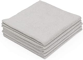 The Rag Company (5-Pack) 16 in. x 16 in. EDGELESS Pearl Professional Microfiber Ceramic Coating/Sealant/Interior Detailing Towels 320gsm Pearl-Weave (16x16, Ice Grey)
