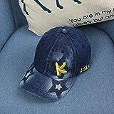 wtnhz Artículos de Moda Letras Bordadas Coreanas Gorra de béisbol de Mezclilla Sombrero para el Sol para niños Sombrero de Escuela primariaRegalo de Vacaciones