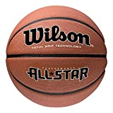 Wilson Men's NEW PERFORMANCE ALL STAR BSKT Basketball, Brown, OFFICIAL