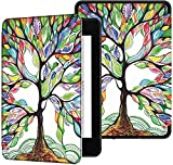 GLGSHOULIAN Caso para Kindle,Caso Voor Kindle Paperwhite 2018 Smart Cover Met Auto Wake/Sleep Pasado Amazon All-New Kindle Paperwhite 4 Cover (10Th Gen-2018),Multicolor Tree