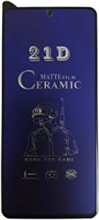 21D Ceramic Matte Anti-Blue Ray Screen Protector - Samsung Galaxy Note 10 Lite - Black