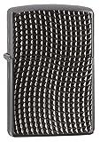 Zippo Cross Wave Ridge Armor Windproof Lighter High Black Chrome - Mechero, Color Acero