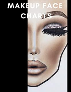 Makeup Face Charts: A Bold Blank Paper Practice Face Chart For Professional Makeup Artists