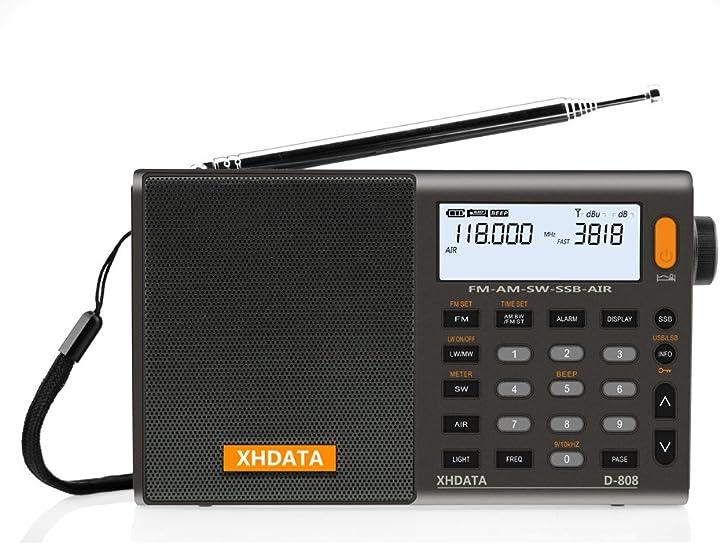 Radio digitale altoparlante con display lcd sveglia antenna esterna xhdata d-808