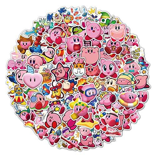 XXCKA 100 Star Kirby Pegatinas Equipaje Maleta Trolley Maleta Pegatinas Dibujos Animados Pegatinas de Graffiti a Prueba de Agua