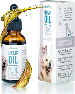 PetPeak Premium Hemp Oil for Pets Hip & Joint Supplement for Dogs & Cats | Antioxidant & Anti-Inflammatory Action for Arthritis, Better Mood & Sleep, Reduced Pain & Enhanced Immune System