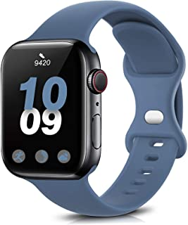 Coinit Sport Band Compatible with Apple Watch Bands 38mm 40mm 42mm 44mm, Soft Silicone Replacement Wristband Compatible wi...