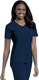 Women's Quick Cool V-Neck Scrub Top with 4 Way Stretch