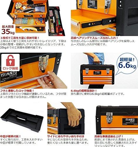 ミナト電機工業『3段ツールボックスTB-30』