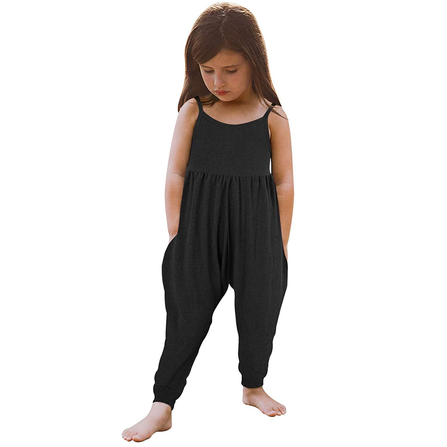 Baby Summer Jumpsuits for Cheap mail order specialty store Girls Kids Strap R Mail order cheap Backless Harem Cute