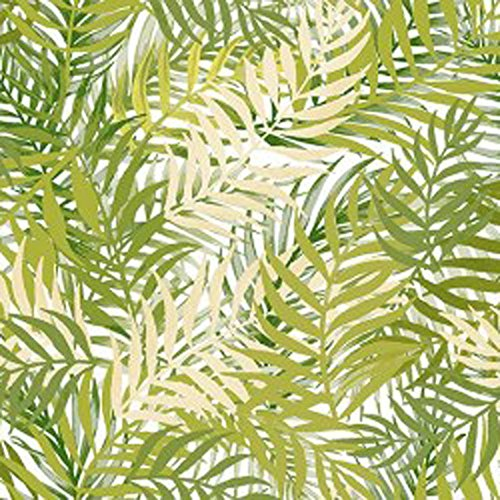Wachstuch Blumen Bambus Grün· Eckig 140x100 cm · Länge wählbar· abwaschbare Tischdecke