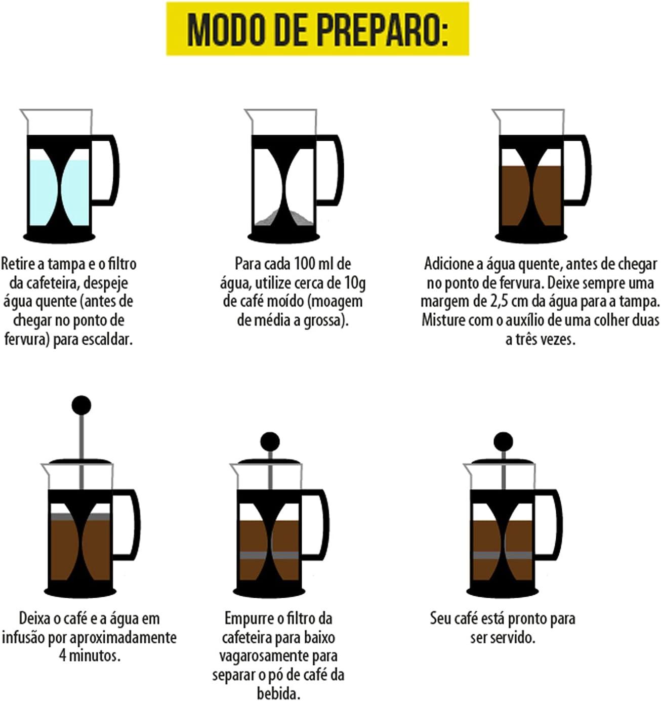 Faça Um Café Com A Mimo Style Cafeteira Prensa Francesa, Capacidade Para 350 ml!