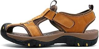 Navoku Mens Leather Anti-Skid Summer Sandles Outdoor Beach Sandals