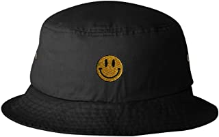 Adult Smiley Face Embroidered Bucket Cap Dad Hat