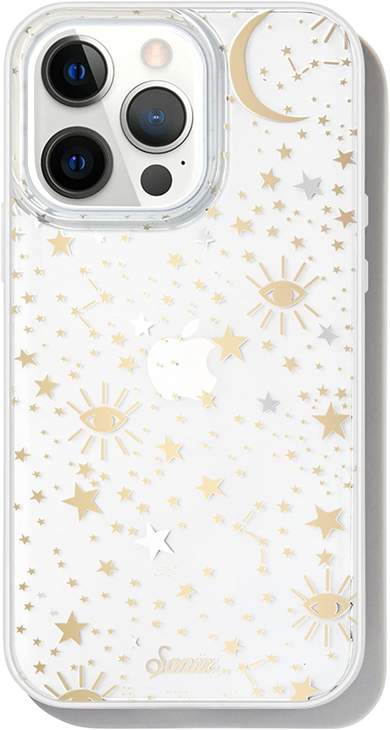 Sonix Cosmic Stars Case for iPhone 13 Pro [10ft Drop Tested] Protective Gold Silver Star Clear Cover for Apple iPhone 13pro