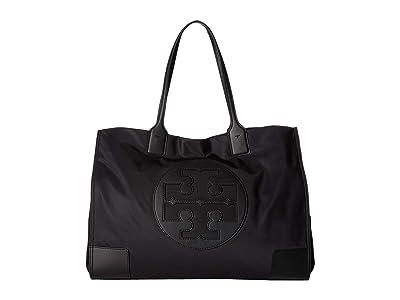 Tory Burch Ella Tote (Black) Handbags