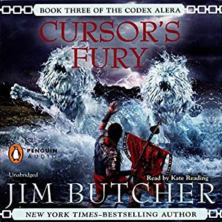 Cursor's Fury     Codex Alera, Book 3              By:                                                                                                                                 Jim Butcher                               Narrated by:                                                                                                                                 Kate Reading                      Length: 20 hrs and 29 mins     8,675 ratings     Overall 4.8