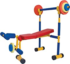 Family Games Little Moppet Indoor Workout Bench Healthy Growth, Kids Fun Exercise, Active Kids Supports 100 Lbs for Kids Age 3 Plus