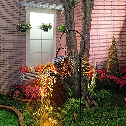 LED Gießkanne DIY Garten Außen Gießkanne Art LED-Licht Gartendekoration Solar Gießkanne Fairy Garden Light Gießkanne mit Lichterkette Außen