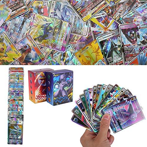 YNK 200 Stücke Sack Karten, Sammelkarten, Flash Karten, Spaß Kartenspiel, Sun & Mood Series, GX Karten Trainer Karten (189GX + 11Trainer)