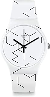 Swatch Meiro Quartz Movement White Dial Unisex Watch SUOW164