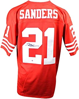 Deion Sanders Signed San Francisco 49ers Mitchell & Ness Retired Player Vintage Replica Jersey - Steiner Sports Certified