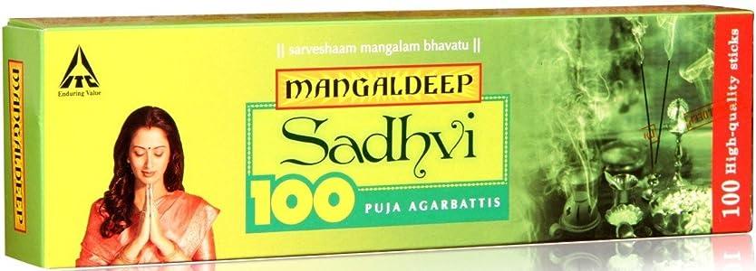 自分のためにぴったり酸度Mangaldeep Sadhvi 100供養Incense Stick