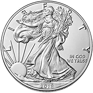 2018 - American Silver Eagle .999 Fine Silver with Our Certificate of Authenticity Dollar Uncirculated Us Mint