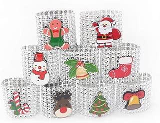 heresell 9PCS Servilleteros De Mesa, Anillos De Servilletas De Navidad Servilletas De Santa Hebillas para Decoraciones Navideñas De Mesa De Comedor Sweet Outstanding
