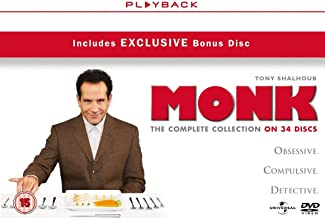 Monk Complete Collection  Monk Seasons 1-8  NON-USA FORMAT, PAL, Reg.2.4 United Kingdom