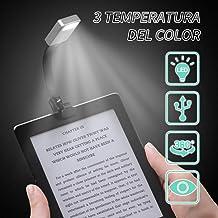 Ausein Luz de Lectura, Mini Lámpara de Libro Cuidado de Ojos con Luz Nocturna Recargable USB 3 Modos de Brillo con Clip, 360 ° Flexible, LED Portátil para Lectores Noche, E-Reader, Estudio Etc