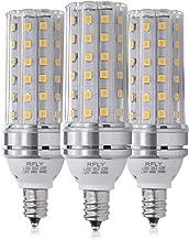 E12 LED Bulbs, 12W LED Candelabra Bulb 100 Watt Equivalent, 1200lm, Decorative Candle Base E12 Corn Non-Dimmable LED Chandelier Bulbs, Warm White 3000K LED Lamp, Pack of 3