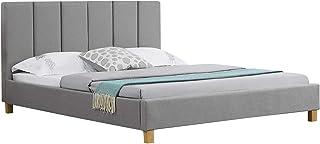 IDIMEX Lit Double pour Adulte Jason Couchage Queen Size 160 x 200 cm 2 Places / 2 Personnes, avec sommier et tête de lit D...