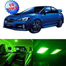 LED Interior Lights 9pcs Green Package Kit Accessories Replacement Fits for 2010-2017 Subaru WRX