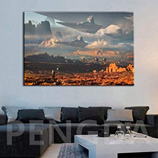 MhY Modern HD Prints Pictures Home Decor Wall Art Canvas Posters Star Wars Paintings For Living Room 60cm x90cm Sin Marco