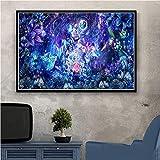 Puzzle 1000 piezas Pintura de arte psicodélico pintura abstracta pintura decorativa puzzle 1000 piezas adultos Juego de habilidad para toda la familia, colorido juego de ubica50x75cm(20x30inch)