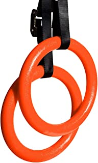 Max4out Gymnastic Rings with Adjustable Straps, Exercise Rings Workout, Fitness Ring Bodyweight Strength Training Ring at Home Gym