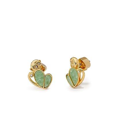 Kate Spade New York Animal Party Monkey Studs Earrings (Green) Earring