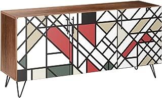 NyeKoncept 13005811 Organic Modernism Hairpin Sideboard44; Walnut & Black