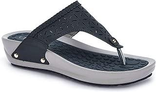 Ceriz Women's Navy Casual Fashion Detailing Slippers