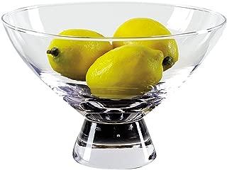 Badash Plato Mouth Blown Glass Pedestal Bowl D9 x h5.5