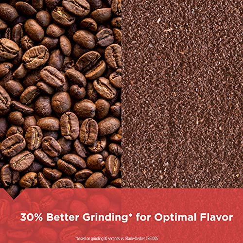 BLACK+DECKER CBG110S Coffee Grinder, One Touch Push-Button Control, Stainless Steel