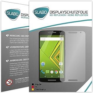 '2 x Slabo skärmskydd för Motorola Moto X Play skärmskydd tillbehör ingen reflektion matt tillverkad i Tyskland
