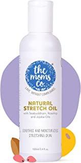 The Moms Co. Natural Stretch Oil, 7 in 1 Natural Bio Oil - Clinically Proven Formula - Australia-Certified Toxin-Free and Mineral-Oil-Free Elasticity Belly Oil 100 ml (Pack of 1 (100 ml))