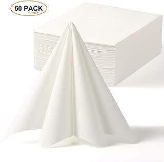 LEKOCH Disposable Guest Towel Linen Feel White Weddings Napkin,Air-Laid Napkins, Paper Hand Towels for Banquet, Kitchen, Parties 16